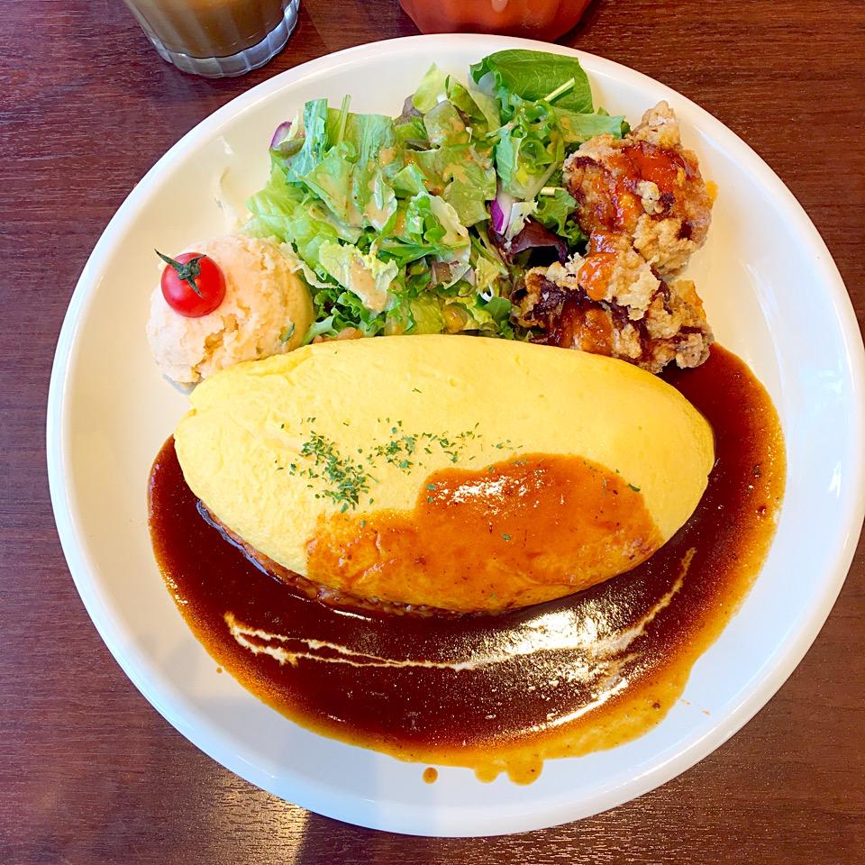 【カフェリスタ 熊本】楠でランチ!ふわとろオムライス最高@メニュー紹介