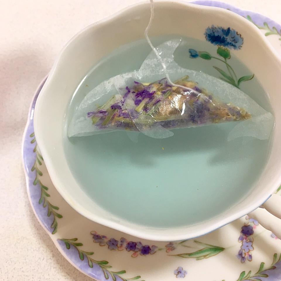【松下園茶房カランコロン】天草!イルカのティーバッグ@カフェメニュー