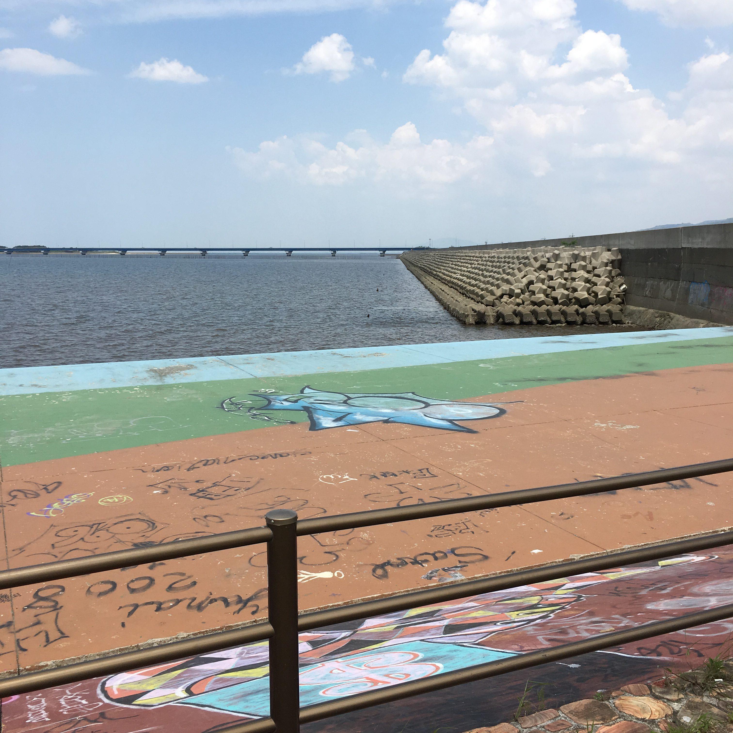 【裏新港】熊本市内に砂浜、ビーチ@こんな場所!行き方など