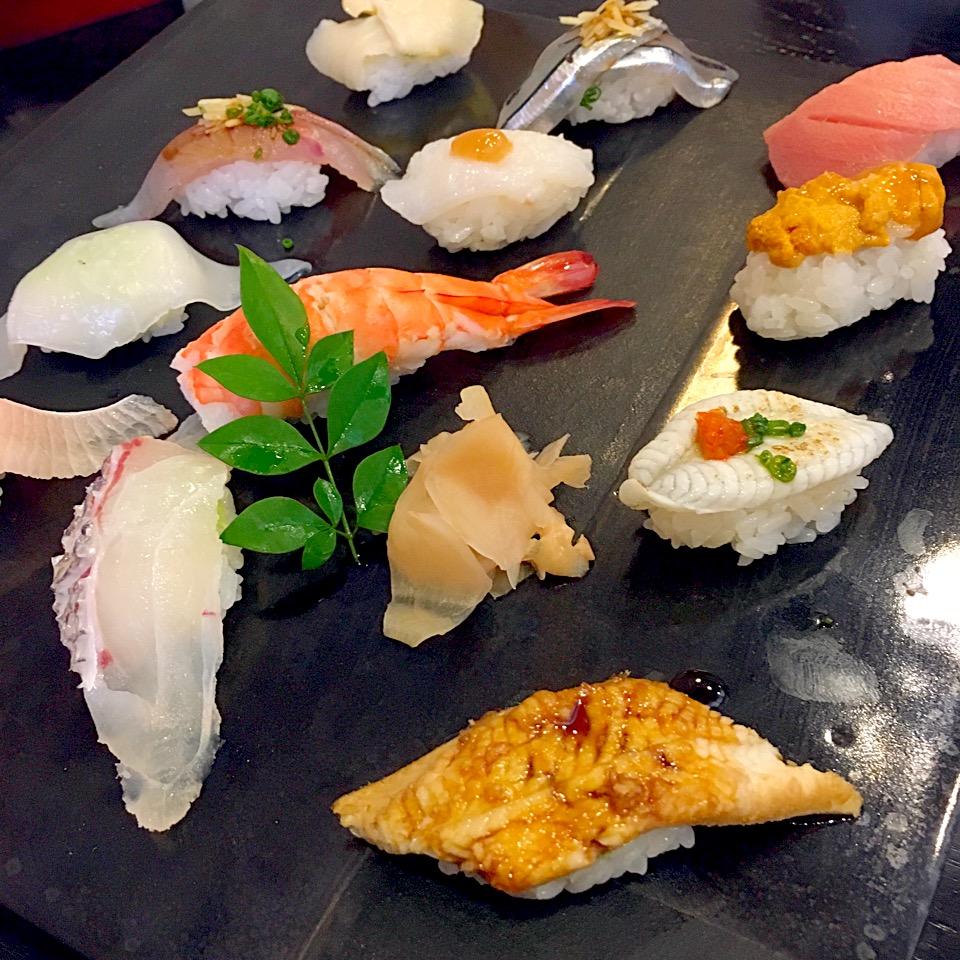 【蛇の目寿司】天草!おまかせ12貫頼んだ。ウニ、絶品@メニュー