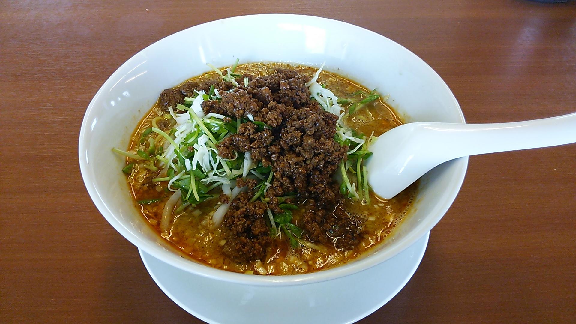【ささのは】嘉島店の坦々麺!濃厚なごまの香りと味のハーモニー