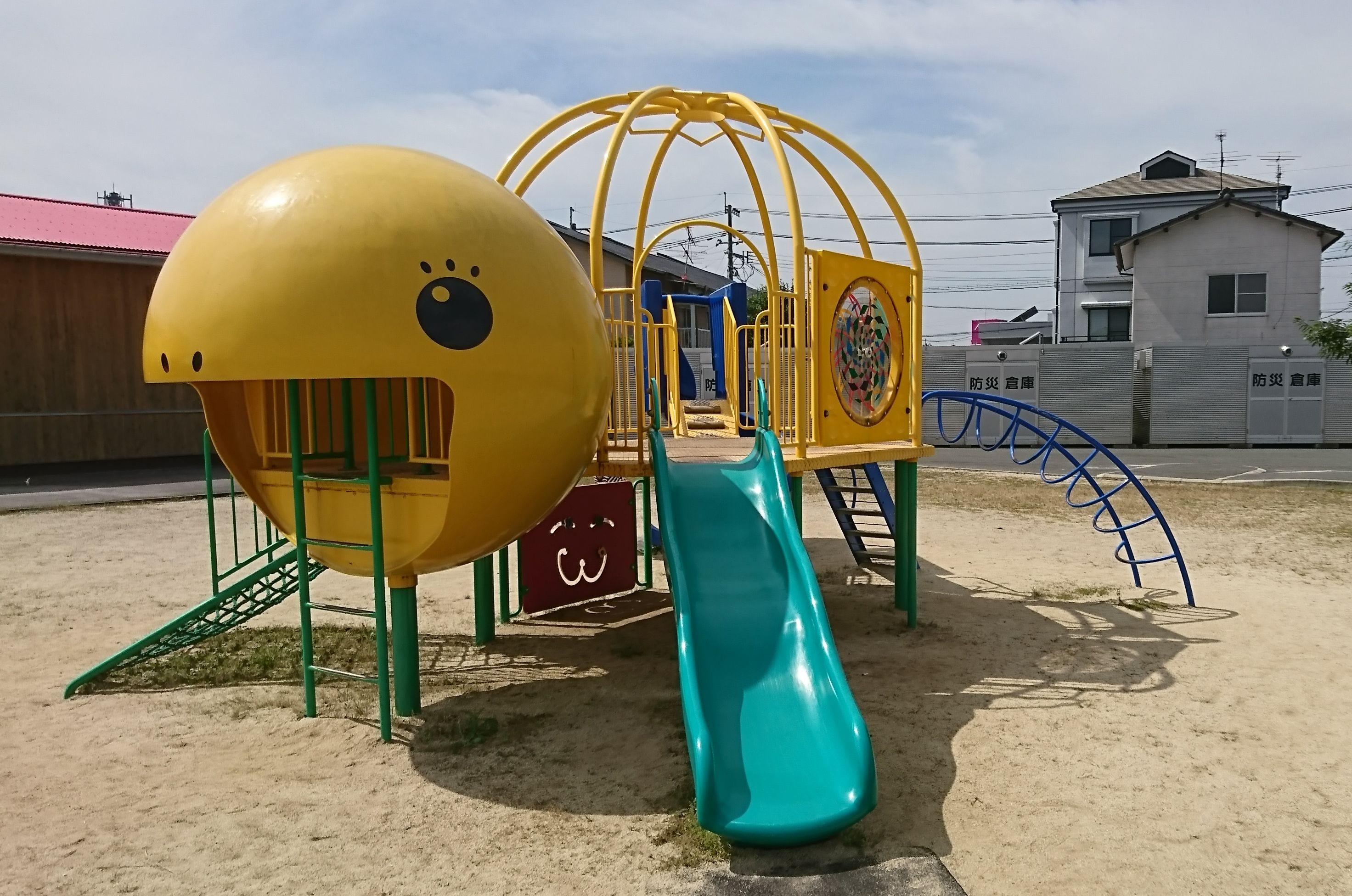 【大津中央公園】大津町、小さなお子さんの公園デビューにちょうど良い公園