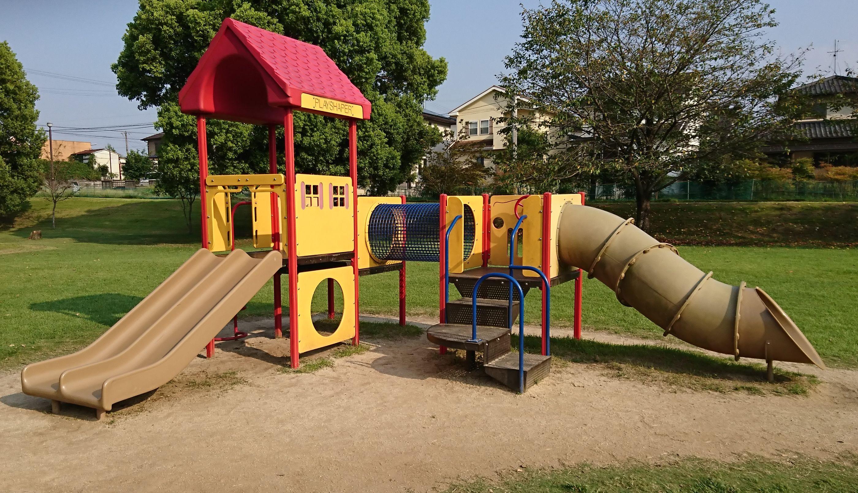 【元気の森公園】合志市、水遊び&芝生の広い自然豊かな公園