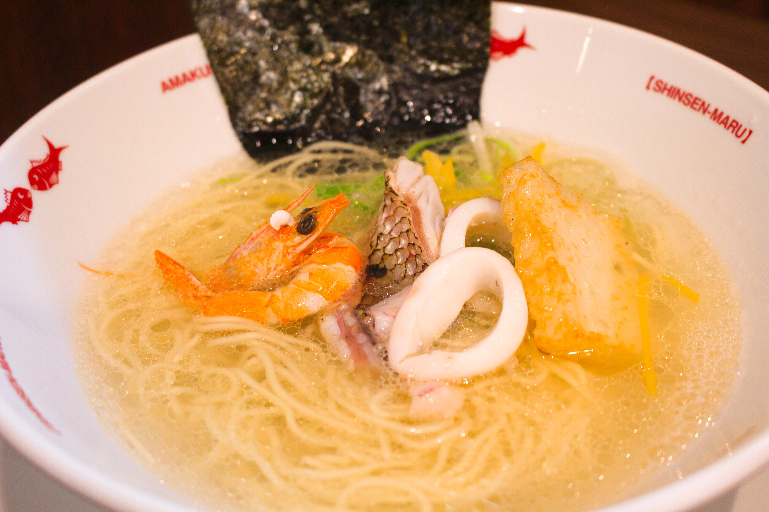 【新鮮丸ラーメン】熊本!戸島、みやび鯛だし塩ラーメン@メニュー