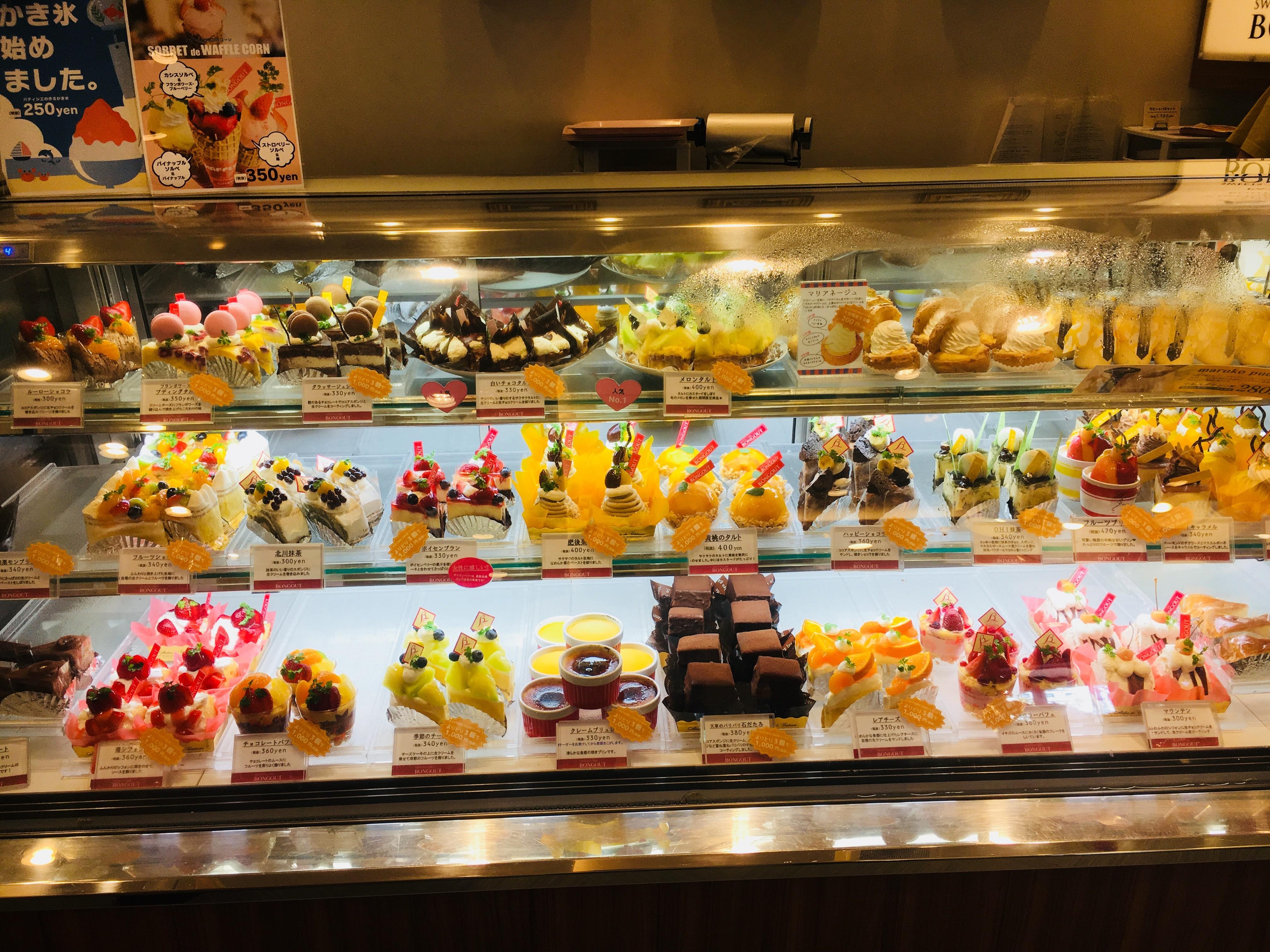 【スイーツラボ ボングー】天草の地元で40年愛され続ける種類豊富な洋菓子店
