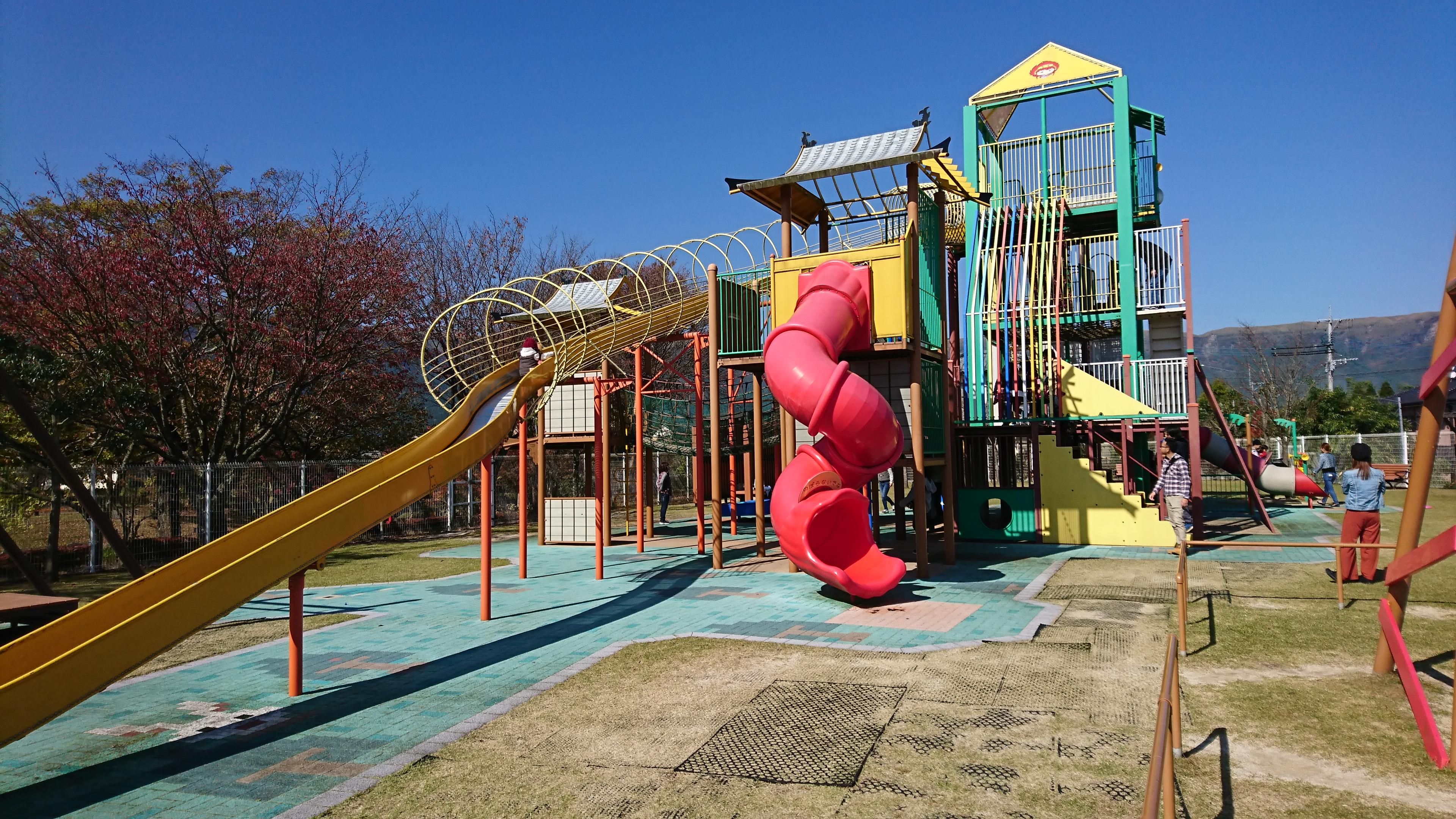 【あそ☆ビバ】内牧温泉街にある子供が大喜びする公園