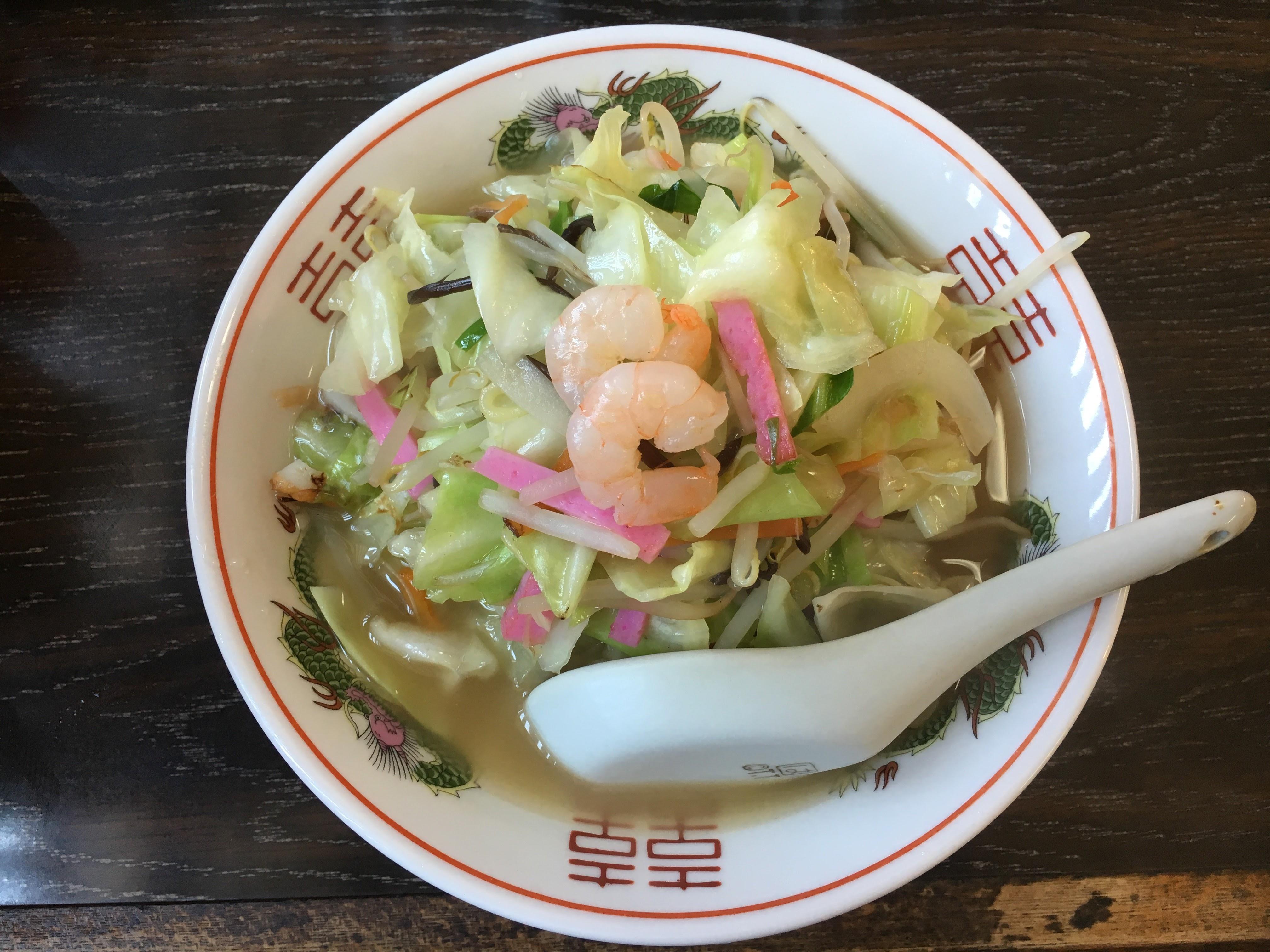 【しろやま食堂】上天草の3代続く「昭和の味のちゃんぽん」が自慢の定食屋