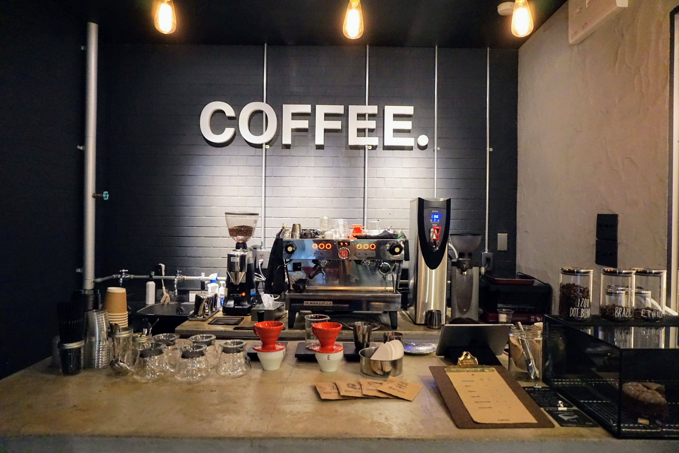 【コーヒードット】下通・フォトジェニックな看板が目印の自家焙煎コーヒースタンド