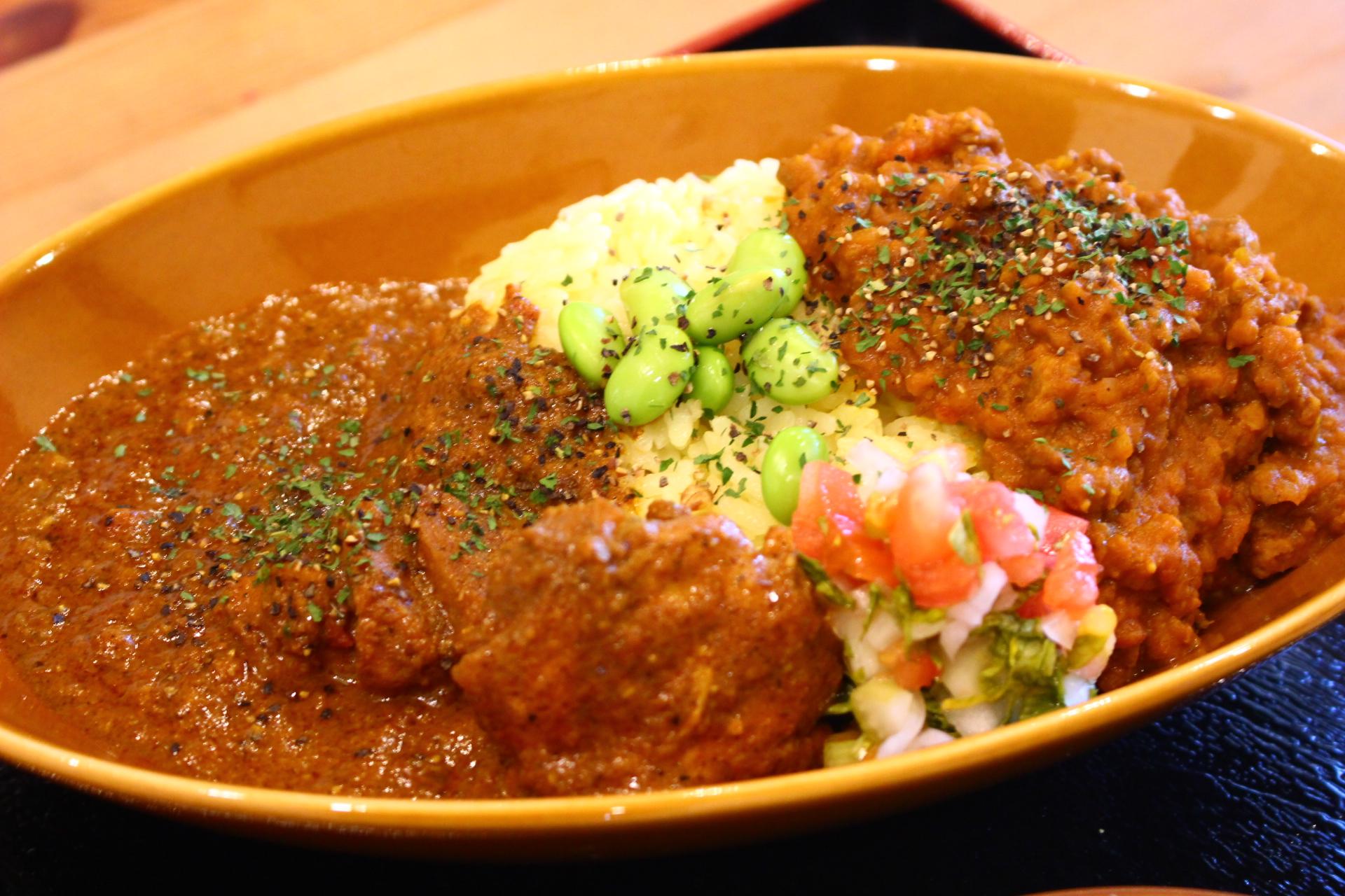 【川尻茶屋】ランチ!川尻駅近くで食べる、絶品カレー
