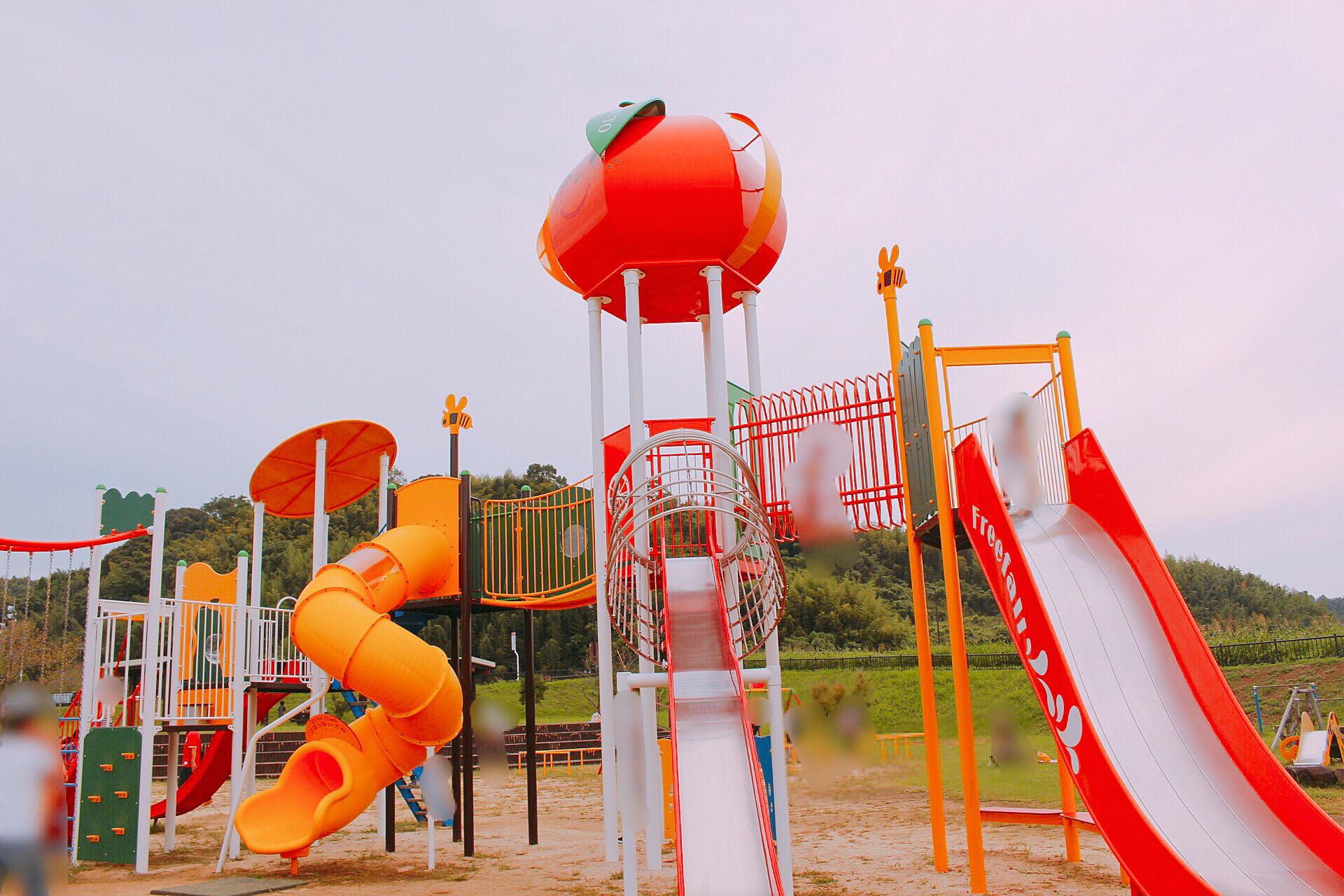 【オレンジ公園】玉東町のオレンジタウンふれあい公園@遊具