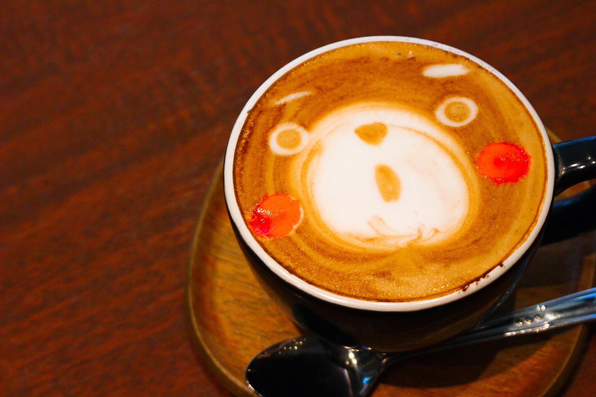 【カフェスイッチ】熊本、上通りで「くまモン」のラテアート