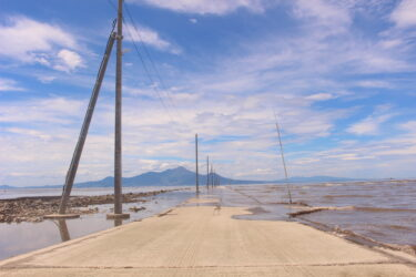 【長部田海床路】満潮・干潮の時間!不思議な光景だ。周辺ランチはここ@宇土