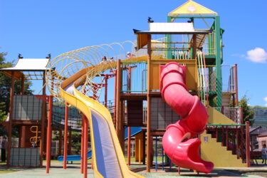 【あそビバ】阿蘇内牧!大型遊具のある公園がめっちゃ楽しい!ゴーカートもあるよ